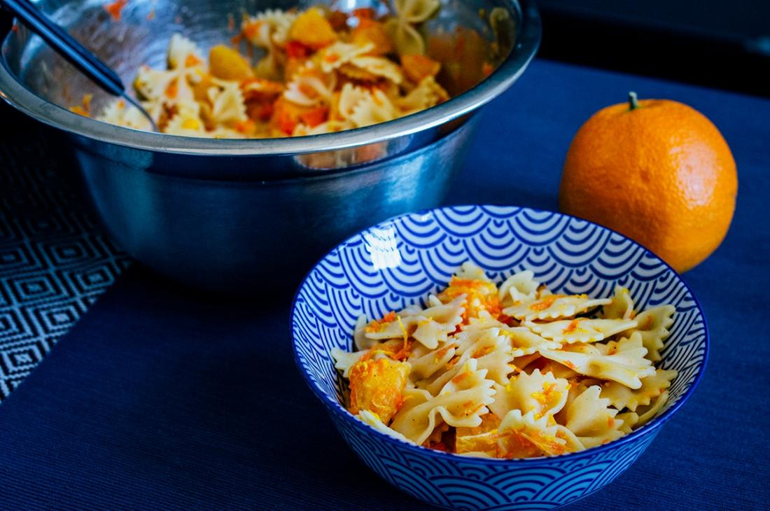 Salade de pâtes à l'orange